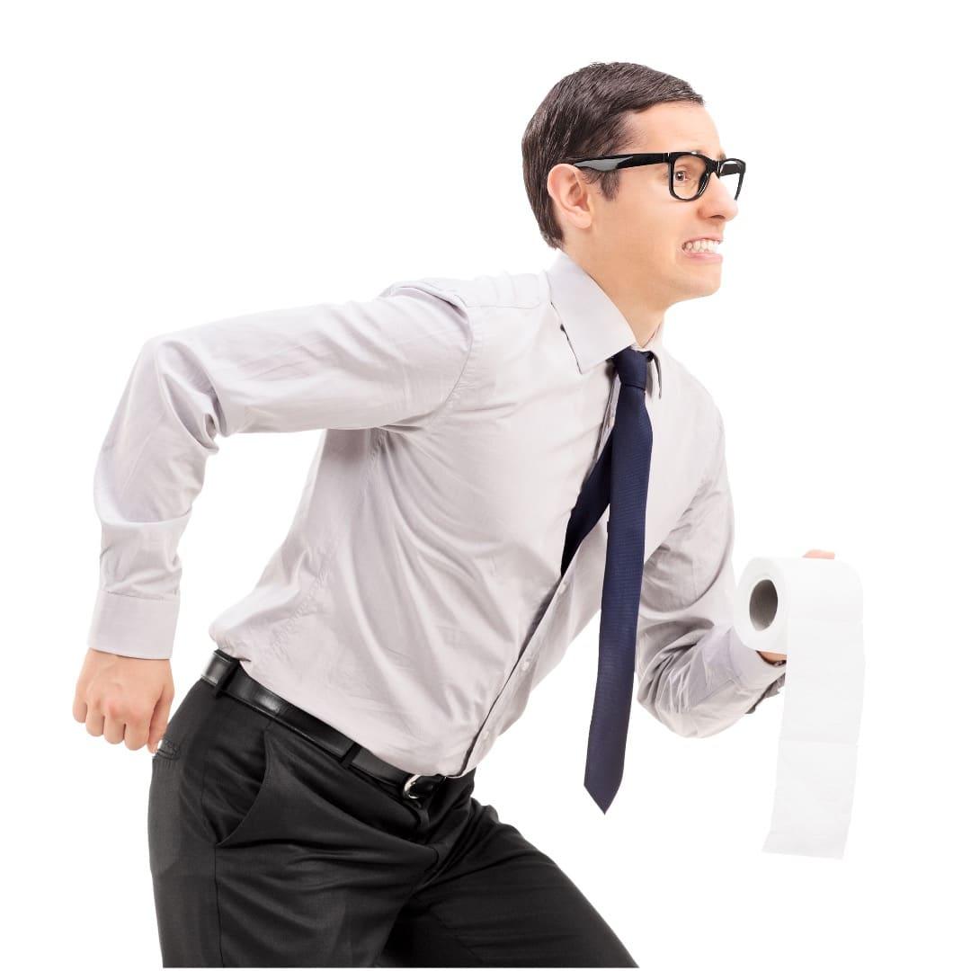 Bei Inkontinenz wird der Weg zur Toilette weit